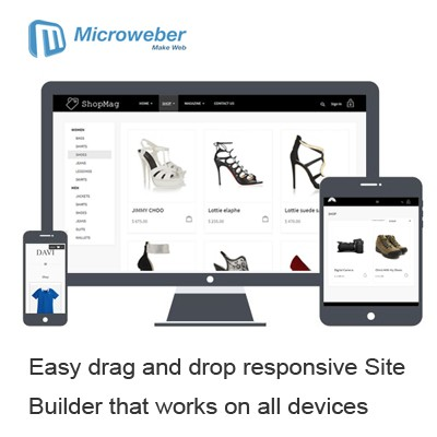 Microweber drag-and-drop responsive website builder on UK cloud hosting